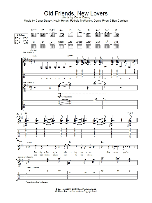 Download The Thrills Old Friends, New Lovers sheet music and printable PDF score & Rock music notes