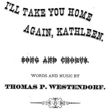I'll Take You Home Again, Kathleen sheet music