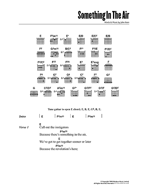 Download Thunderclap Newman Something In The Air sheet music and printable PDF score & Australian music notes