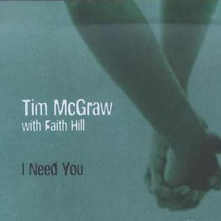 Tim McGraw with Faith Hill, I Need You, Piano, Vocal & Guitar (Right-Hand Melody)