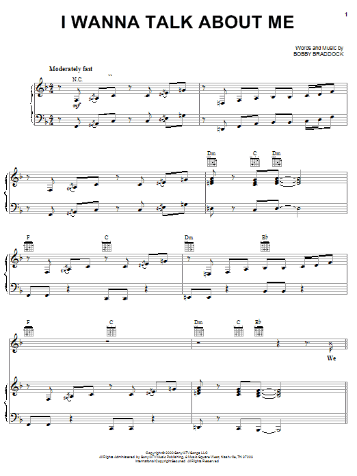 Download Toby Keith I Wanna Talk About Me sheet music and printable PDF score & Pop music notes