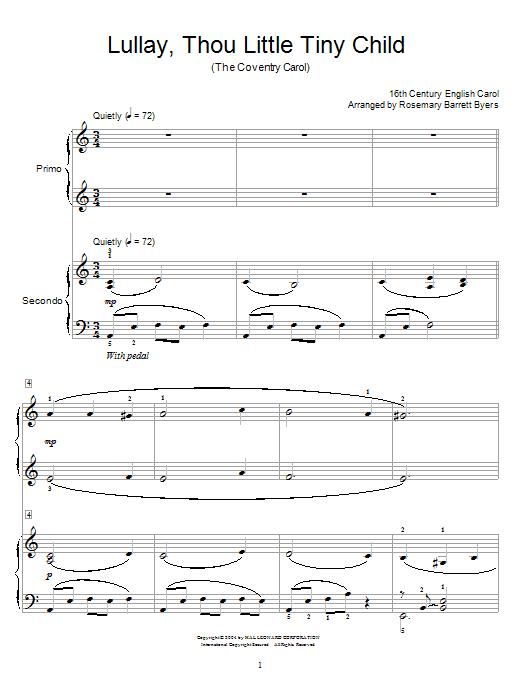 Download Christmas Carol Coventry Carol sheet music and printable PDF score & Folk music notes