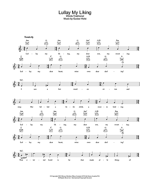 Download Traditional Lullay My Liking sheet music and printable PDF score & Folk music notes