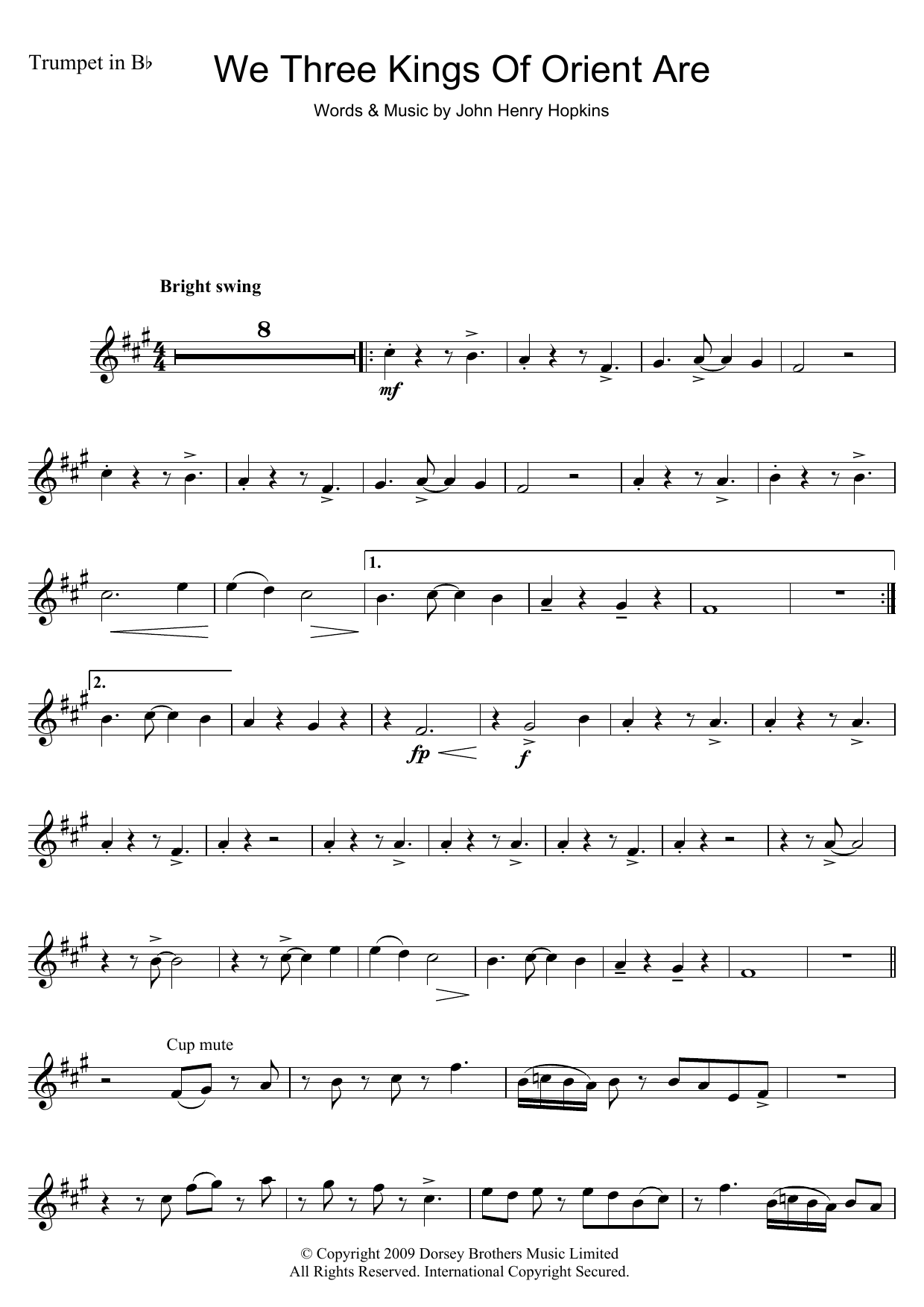 Download Christmas Carol We Three Kings Of Orient Are sheet music and printable PDF score & Traditional music notes