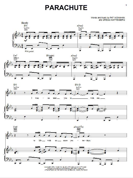 Download Train Parachute sheet music and printable PDF score & Rock music notes