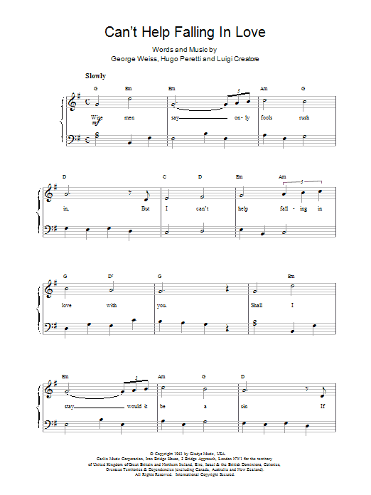 Download UB40 Can't Help Falling sheet music and printable PDF score & Pop music notes