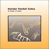Various Kendor Recital Solos - Bb Tenor Saxophone - Solo Book Sheet Music and PDF music score - SKU 125038