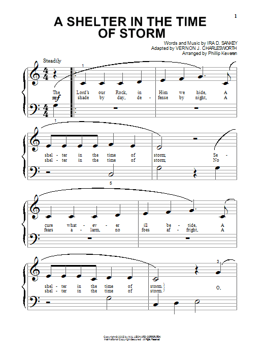 Download Vernon J. Charlesworth A Shelter In The Time Of Storm sheet music and printable PDF score & Hymn music notes