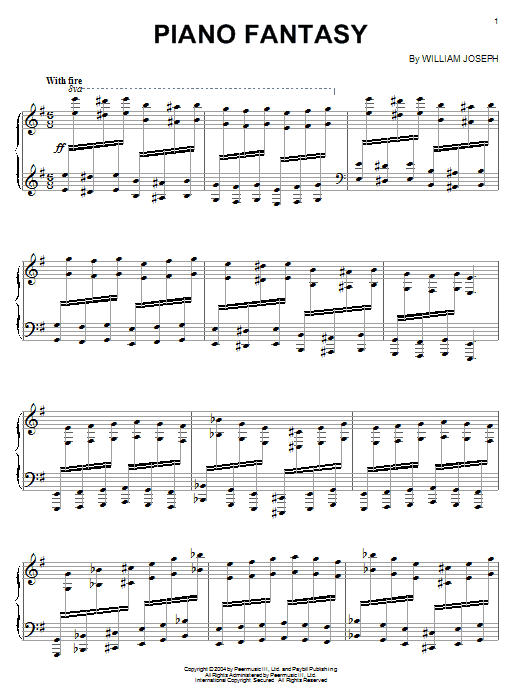 Download William Joseph Piano Fantasy sheet music and printable PDF score & Pop music notes