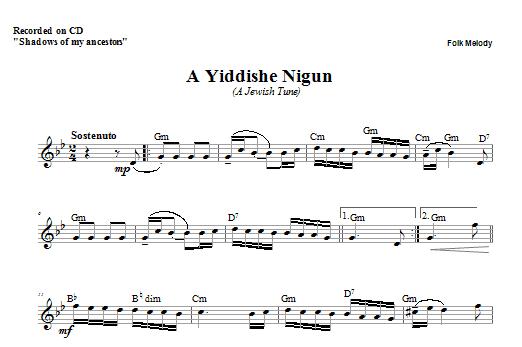 Download Zinovy Goro A Yiddishe Nigun sheet music and printable PDF score & Religious music notes